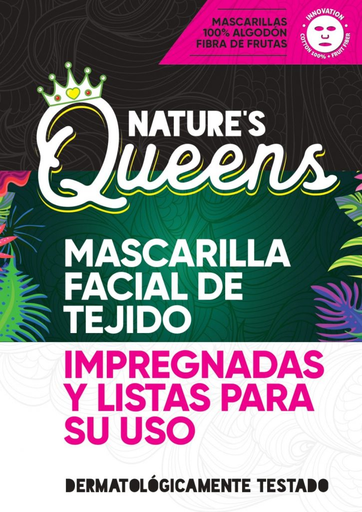 mascarillas faciales de tejido hechas en España nature queens