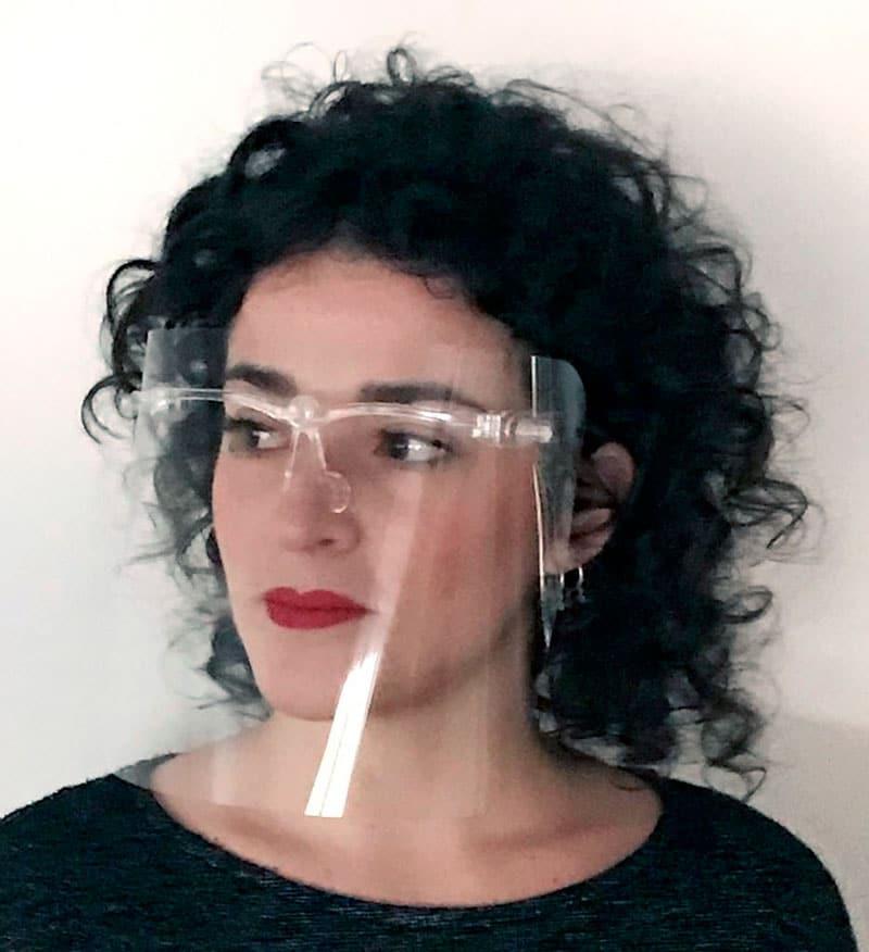 Gafas protectoras para la cara con pantalla facial peluqueria