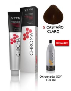 Tinte de pelo color CASTAÑO CLARO Natural Shining Professional